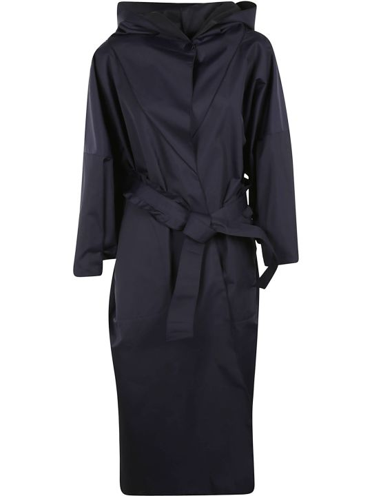 Armani Collezioni Oversized Hooded Trench Coat