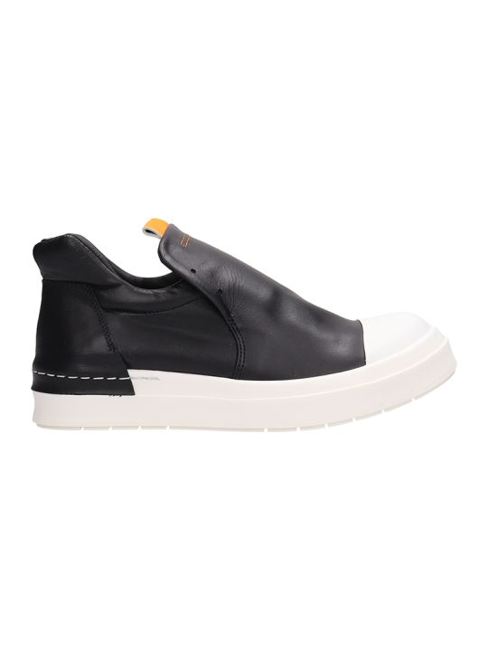 Cinzia Araia Black Leather Sneakers