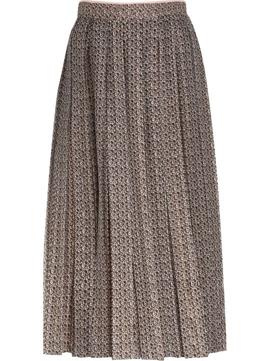 Fendi Printed Silk Skirt