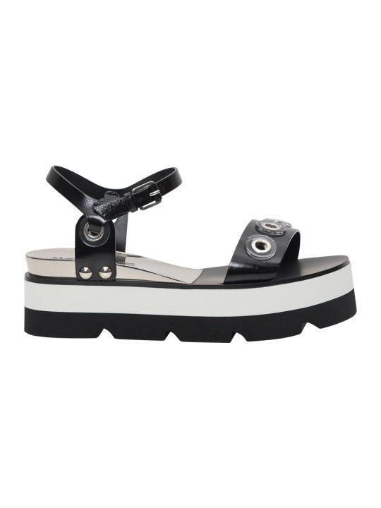 Casadei Platform Sandals With Pierced Studs