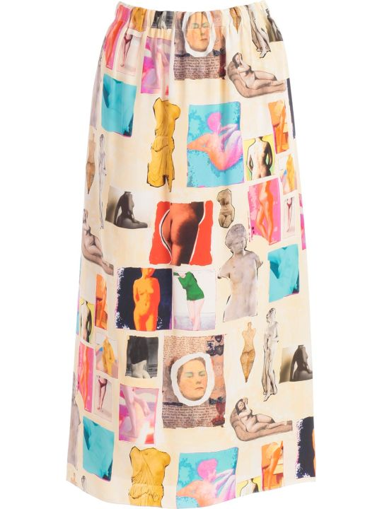Marni Printed High Waist Skirt