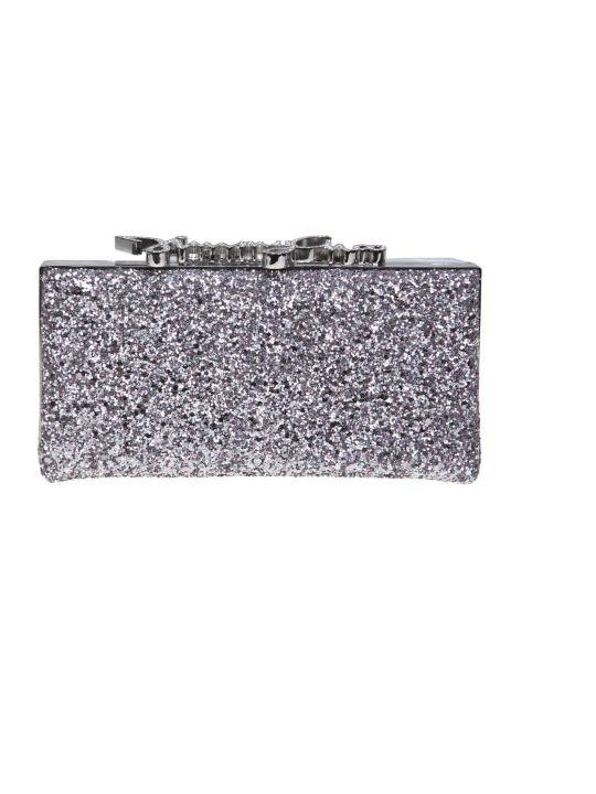 Jimmy Choo Clutch Celeste / S In Glittery Fabric