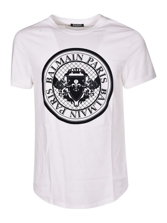 Balmain Round Logo T-shirt