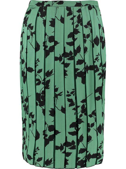Plan C Printed Pleated Skirt