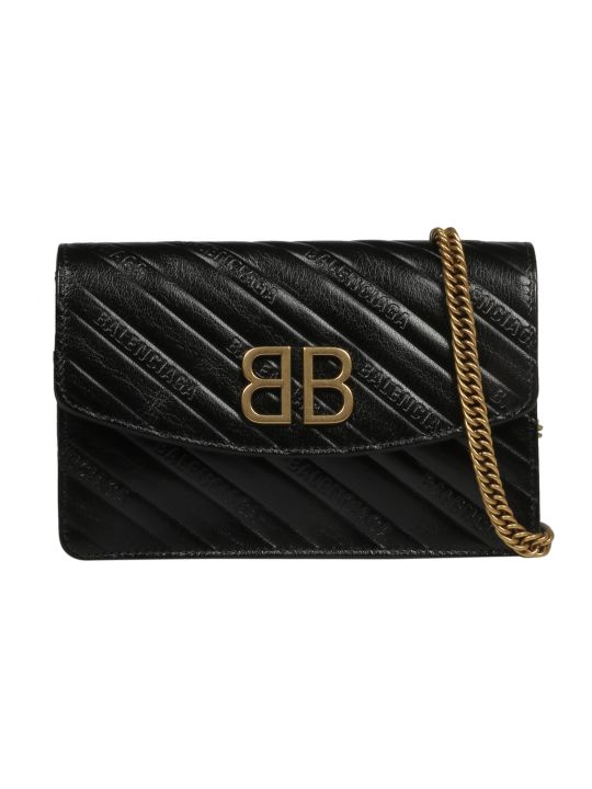 Balenciaga Embossed Quilted Shoulder Bag