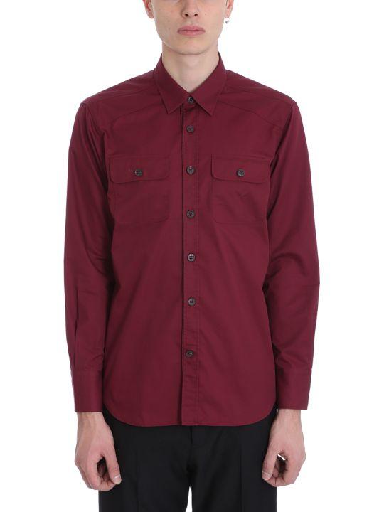 Alessandro Gherardi Bordeaux Cotton Shirt
