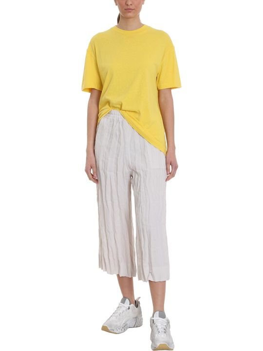 Acne Studios Elice T-shirt In Yellow Cotton