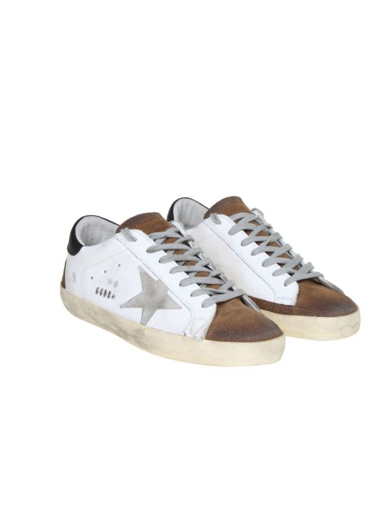 Golden Goose Superstar Sneakers In White Color Leather