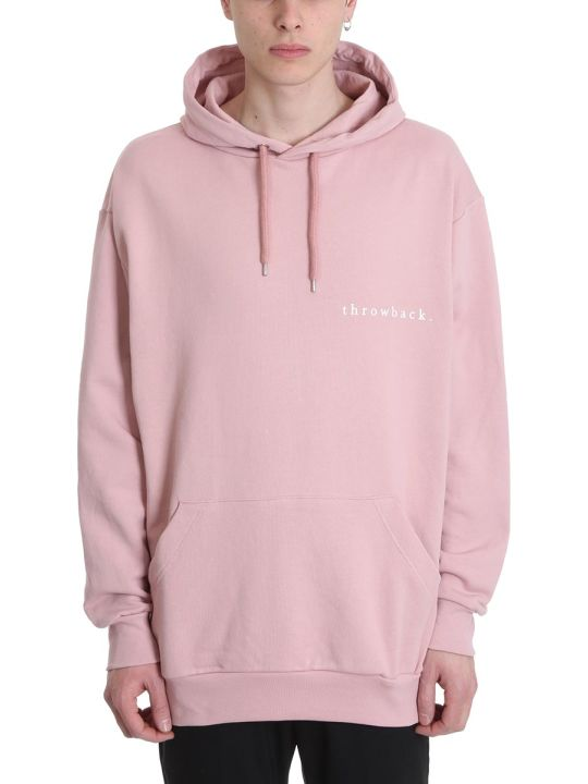 Throw Back Pink Cotton Hoodie