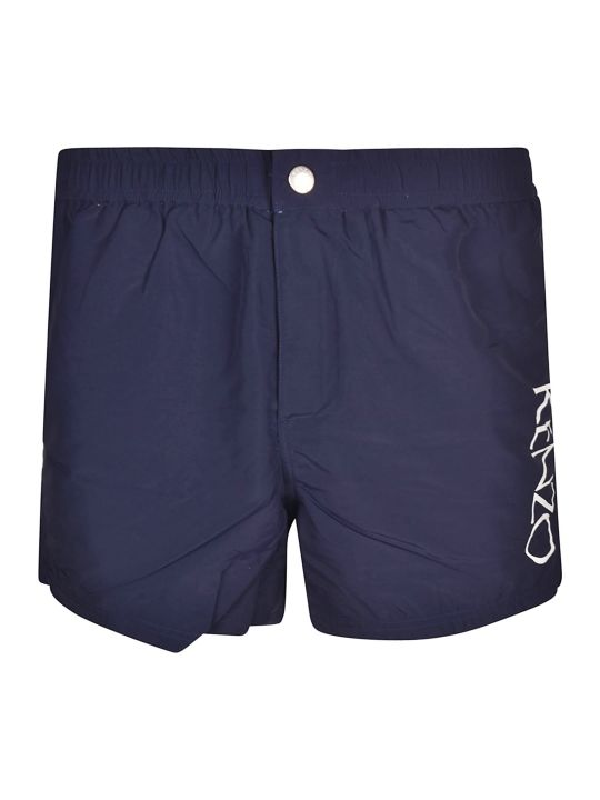 Kenzo Logo Printed Swim Shorts