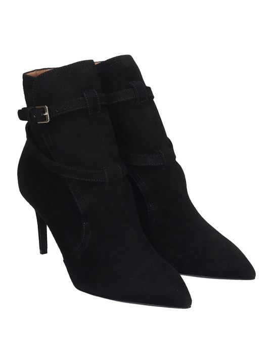 Laurence Dacade Velina High Heels Ankle Boots In Black Suede