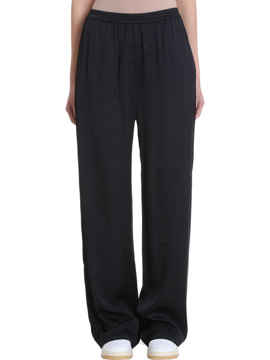 Acne Studios Parnelle Black Viscose Trousers