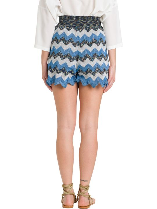 M Missoni Shorts In Wave Lurex Knit Shorts