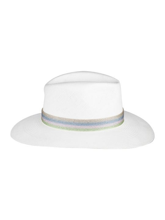 Maison Michel Striped Band Panama Hat
