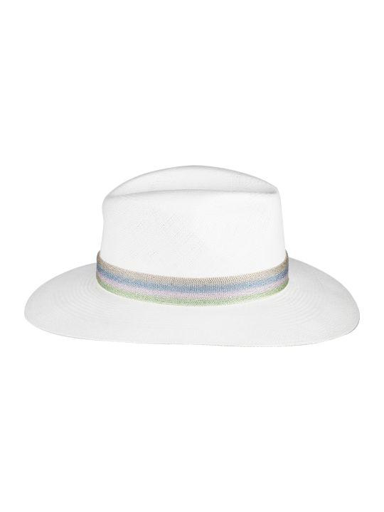 Maison Michel Maison Michel Striped Band Panama Hat