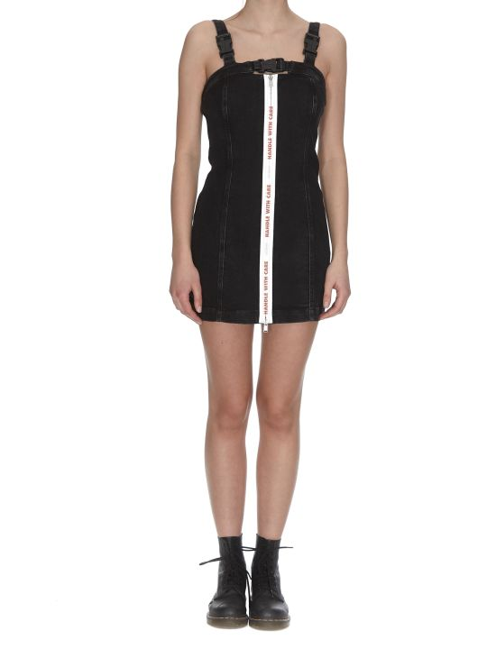 HERON PRESTON Stretch Zip Denim Dress