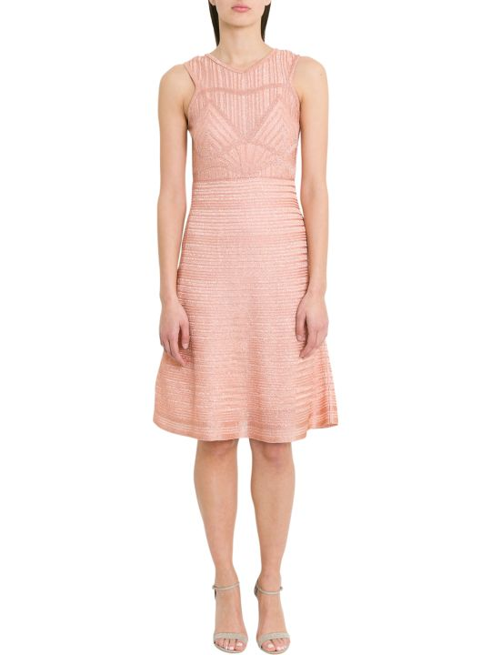 M Missoni Ribbed Lurex Knit Midi Dress