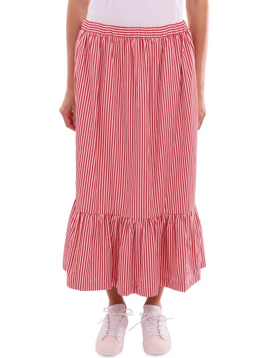 Comme Des Garçons Girl Red And White Skirt