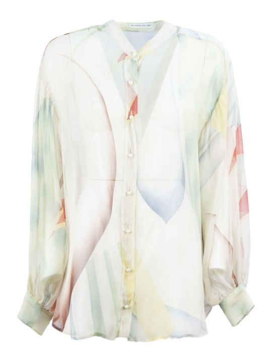 Etro Cotton And Silk Gauze Wrap Shirt