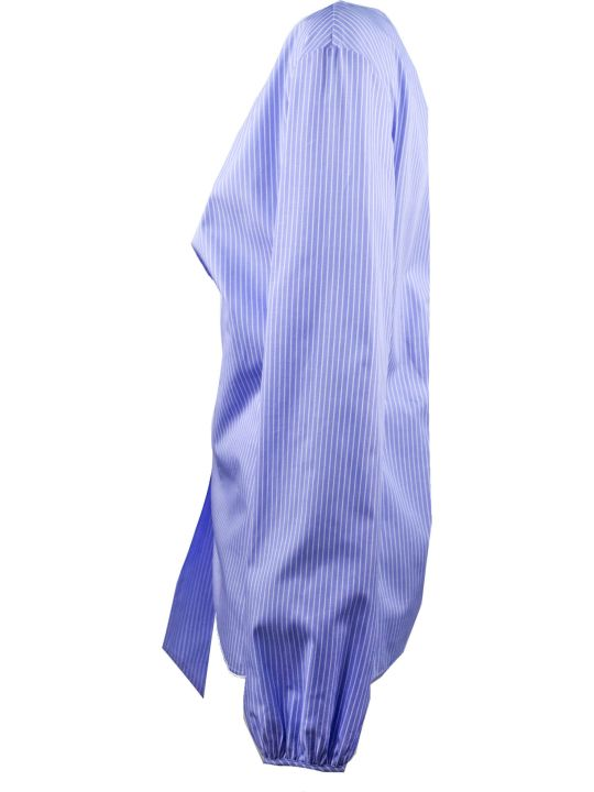 N.21 Blue Pinstripe Cotton Top