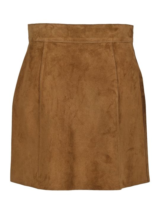 Prada Suede Mini Skirt
