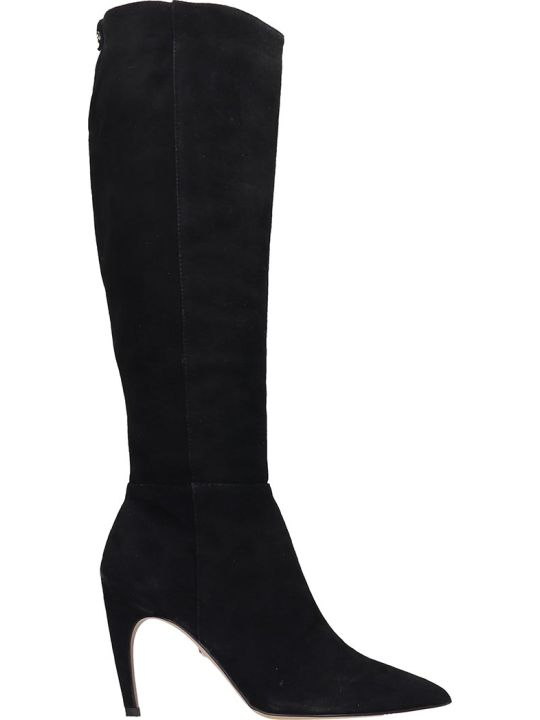 Sam Edelman Fraya High Heels Boots In Black Suede