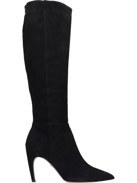 Sam Edelman Fraya High Heels Boots In Black Suede