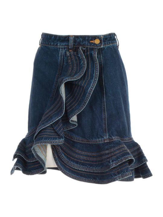 self-portrait Skirt Mini W/flounce