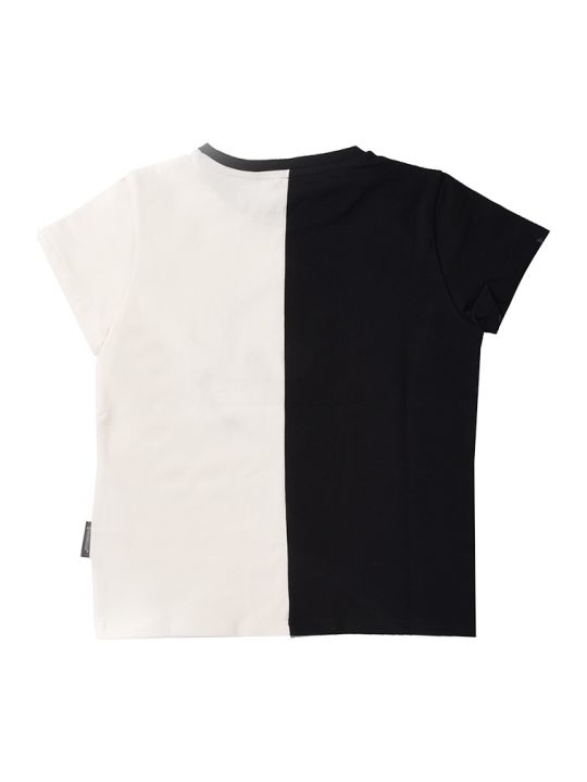 Moncler Ivory Short Sleeve T-shirt With Colored Writing