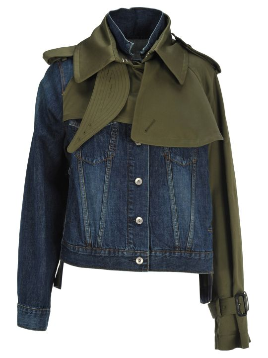 Sacai Sacai Layered Denim Jacket