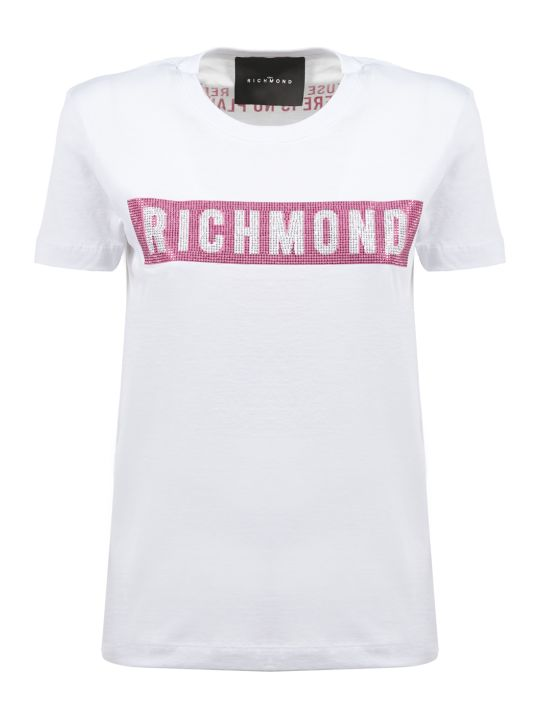 John Richmond Logo Studded Print T-shirt