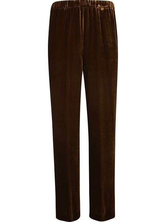 Aspesi Elastic Ribbed Waist Straight Leg Trousers