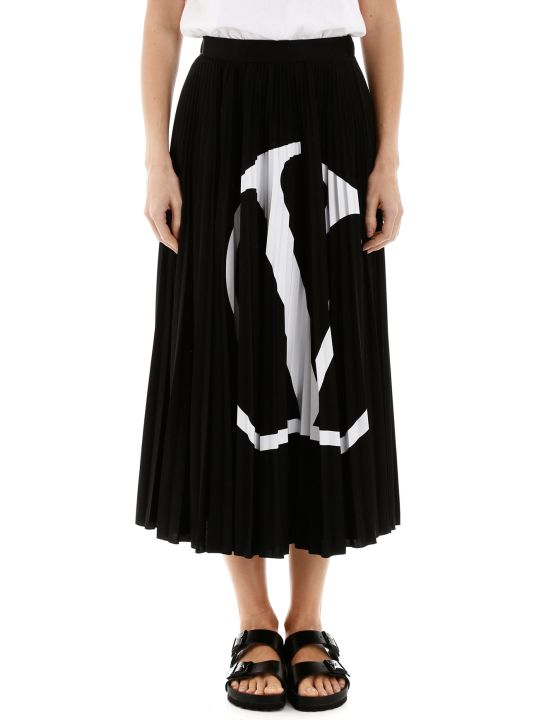 Valentino Vlogo Pleated Skirt