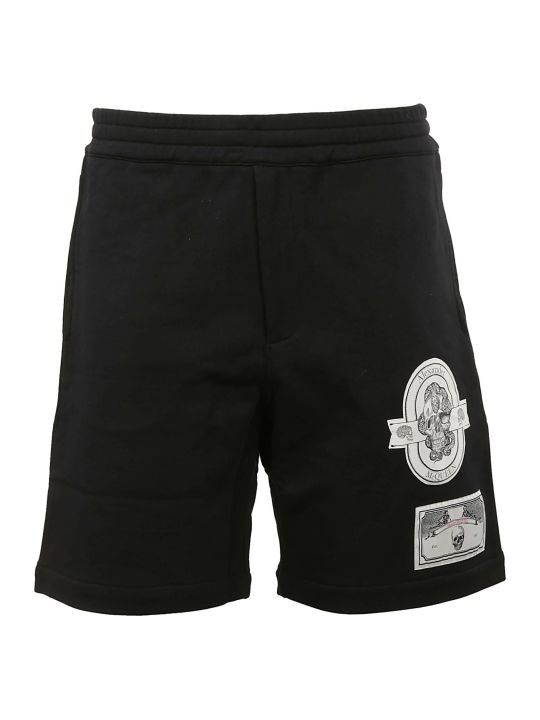 Alexander McQueen Skull Patched Track Shorts