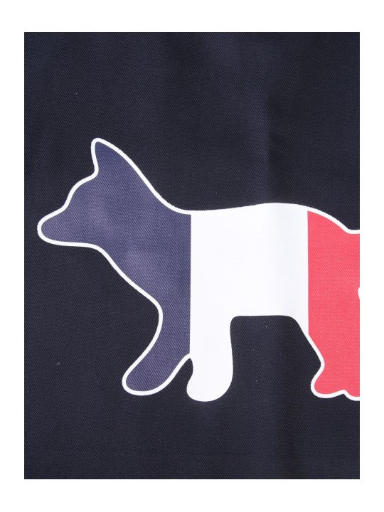 Maison Kitsuné Tricolor Fox Shopping Bag