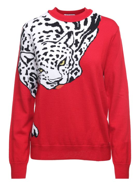 Krizia Leopard-intarsia Wool-knit Sweater