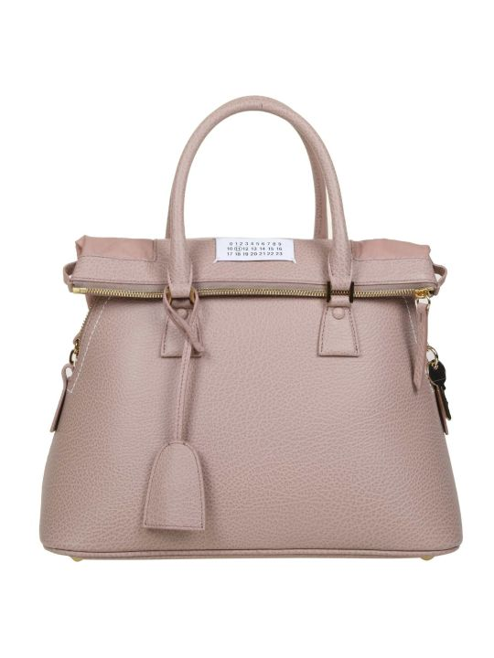 Maison Margiela Handbag 5ac In Calf Leather Color Pink Pipe