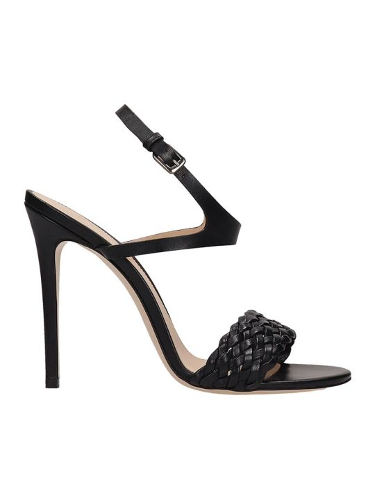 Dei Mille Black Leather Sandals