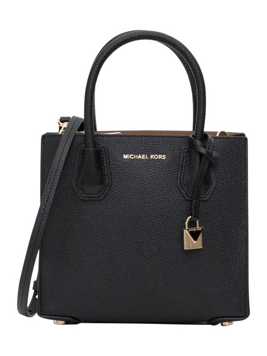 MICHAEL Michael Kors Mercer Acrdion Medium Messenger Bag In Pebble King Leather 18k