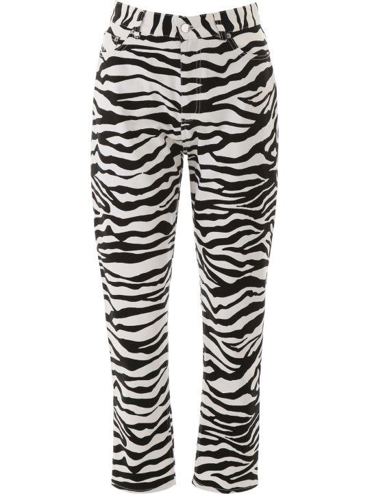 The Attico Zebra Print Trousers