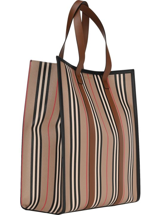 Burberry London Icon Vertical Stripe Tote