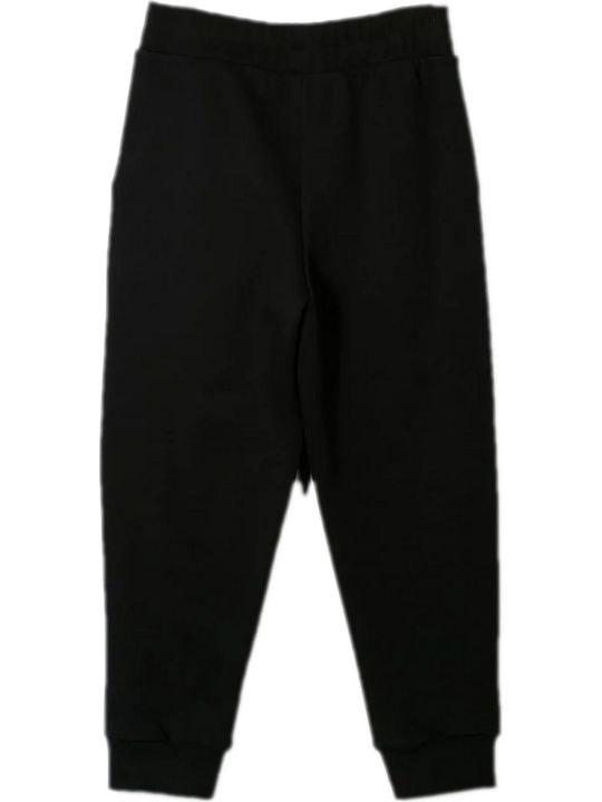 Marcelo Burlon Black Cotton Track Pants