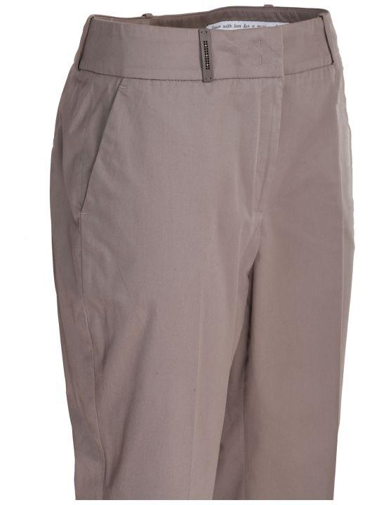Peserico regular fit cigarette trousers