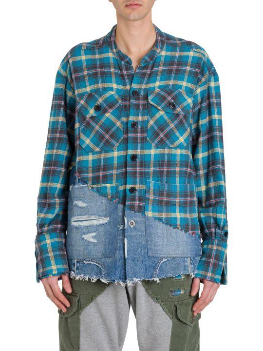 Greg Lauren Boxy Studio Shirt Check With Denim