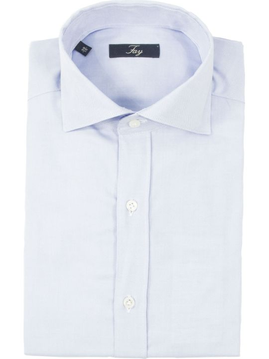 Fay Light Blue Cotton Shirt