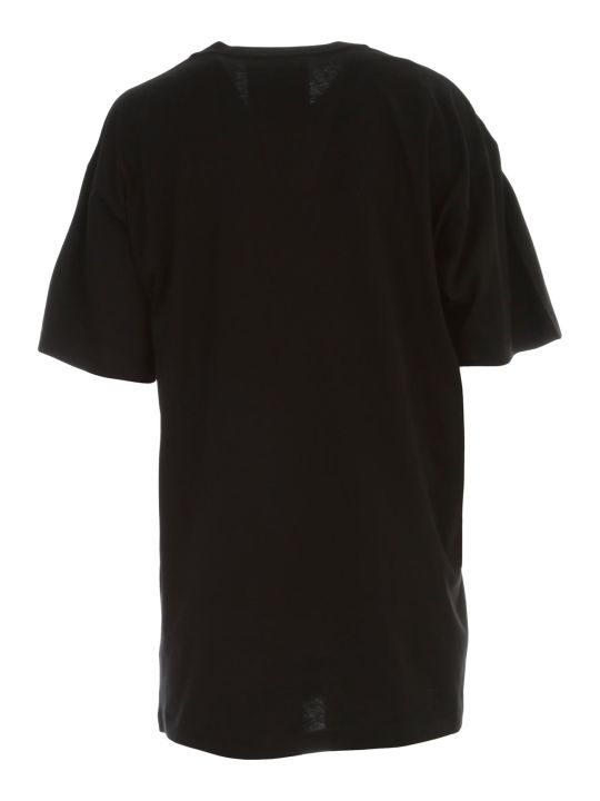 Moschino Oversized T-shirt W/logo And Double Question Mark