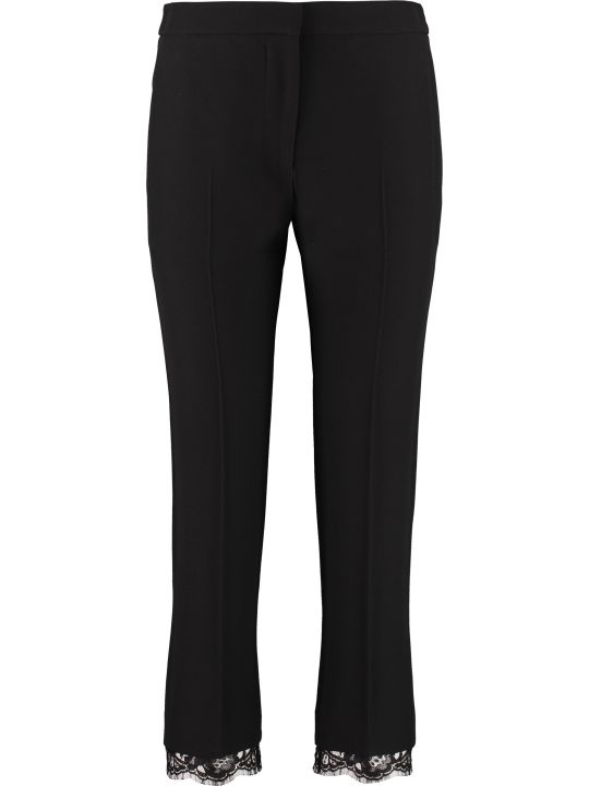 Alexander McQueen Crêpe Pants With Straight Legs
