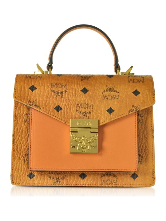 MCM Patricia Visetos Small Satchel Bag