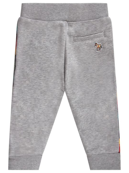 Paul Smith Junior Grey Babyboy Sweatpants With Colorful Stripes