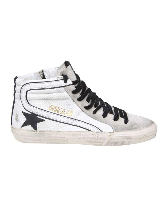 Golden Goose White Leather Slide Sneakers